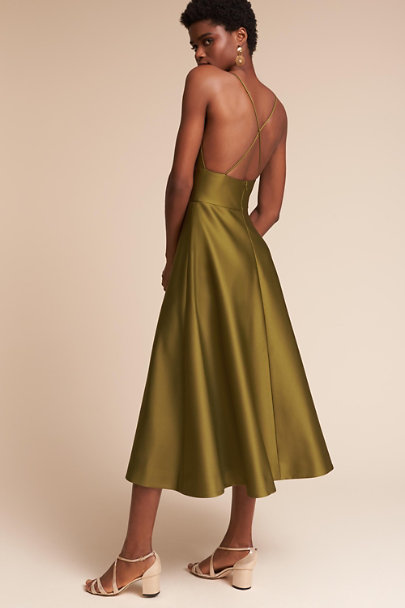 Hitherto Olive Shelby Dress | BHLDN