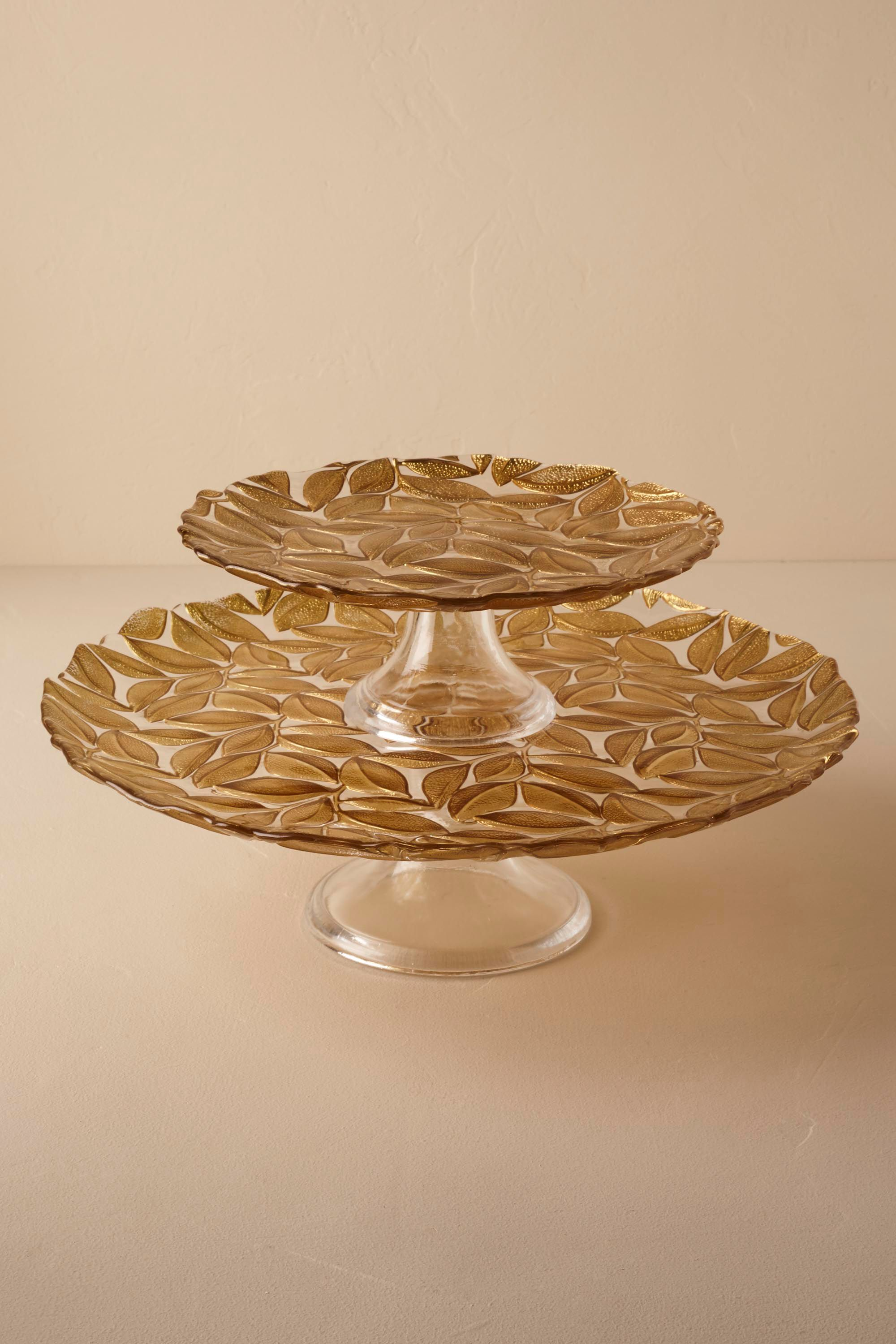 Falling Leaves Cake Stand