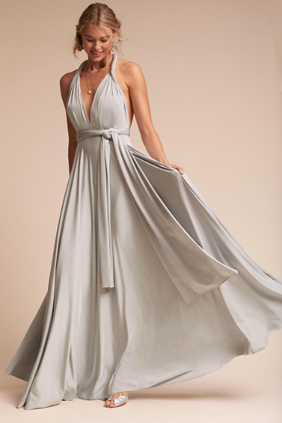 twobirds Silver Ginger Convertible Maxi Dress | BHLDN