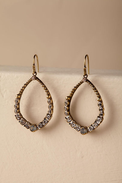 Gold Meira Crystal Hoops | BHLDN