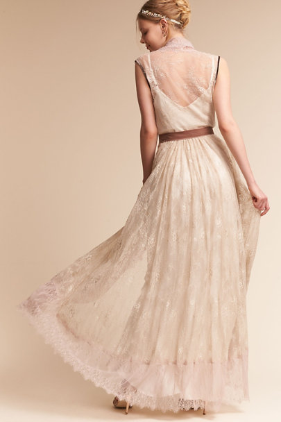 Creme Sarita Lace Duster | BHLDN