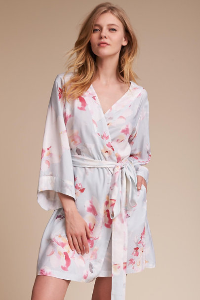 Mist / Green Yumi Kim Morning Light Floral Robe | BHLDN