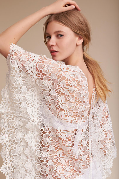 White Grenada Lace Caftan | BHLDN