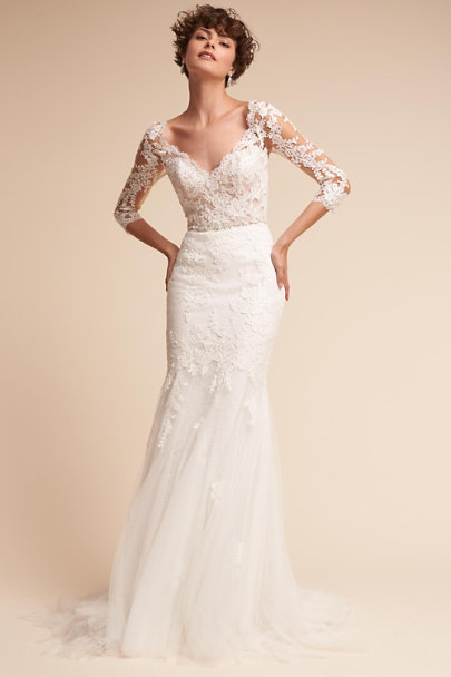 Pique Gown Ivory In Sale Bhldn