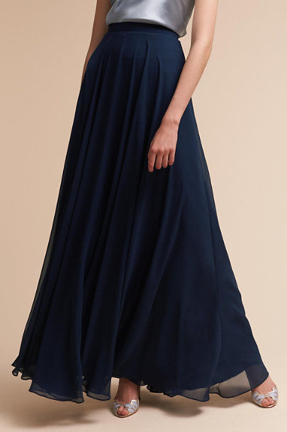 Jenny Yoo Navy Hampton Skirt | BHLDN
