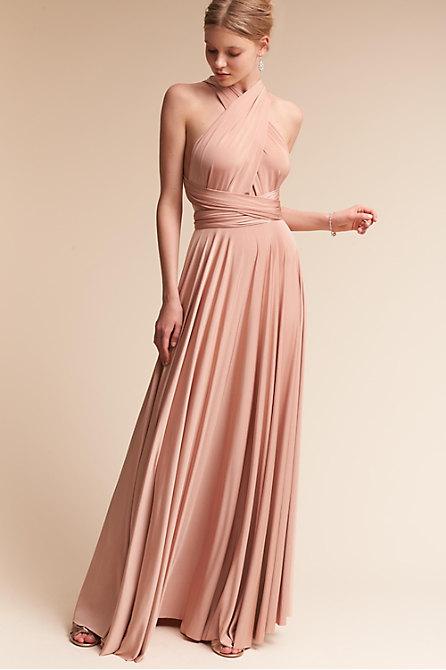 Ginger Convertible Maxi Dress Heather In Bridesmaids
