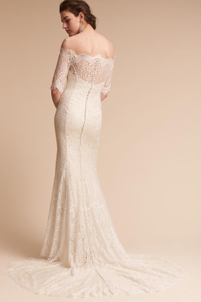 Watters Ivory/Oyster Savannah Gown  | BHLDN