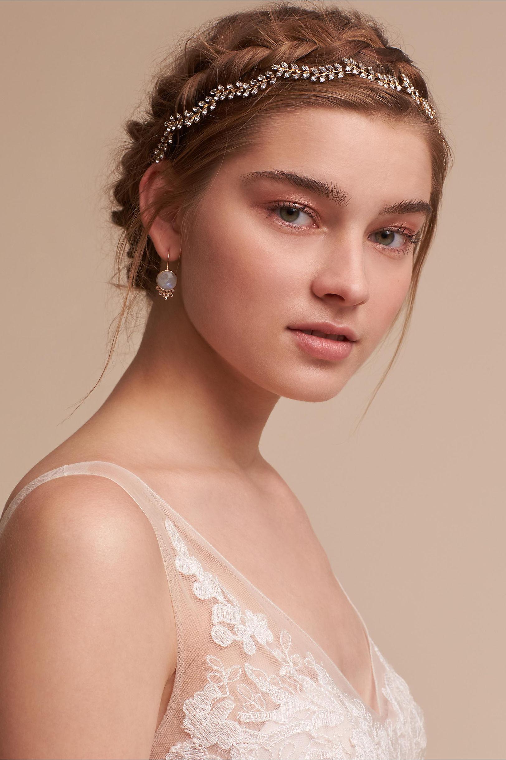 Bridal hair accessories for long hair - Blossoming Vine Headband