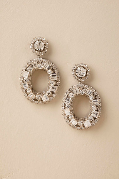 Silver Laine Earrings  | BHLDN