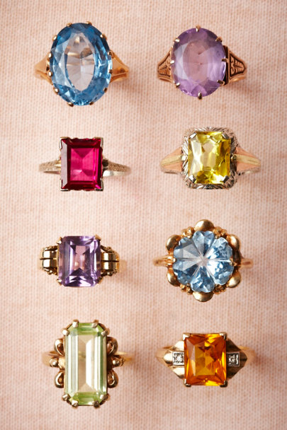 Vintage Cocktail Rings | BHLDN