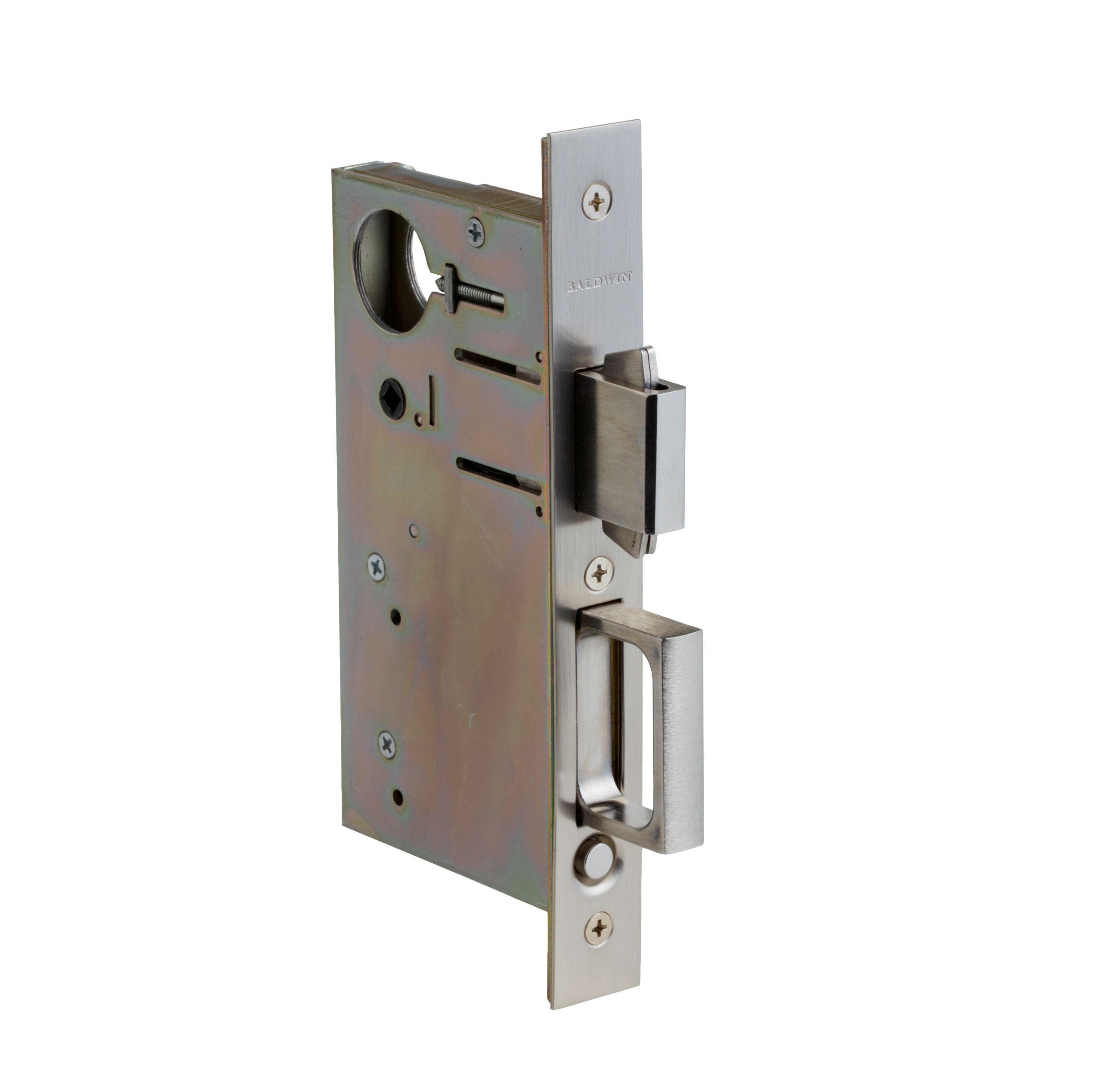 Sliding Door Pull Hardware: 8632 Pocket Door Lock With Pull (8632.150