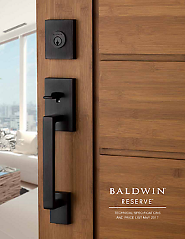 Baldwin Santa Monica Pocket Door Keyed Pocket Door Locks