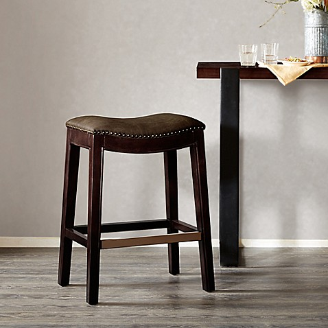 Buy Madison Park Nomad Saddle Bar Stool In Mushroom From