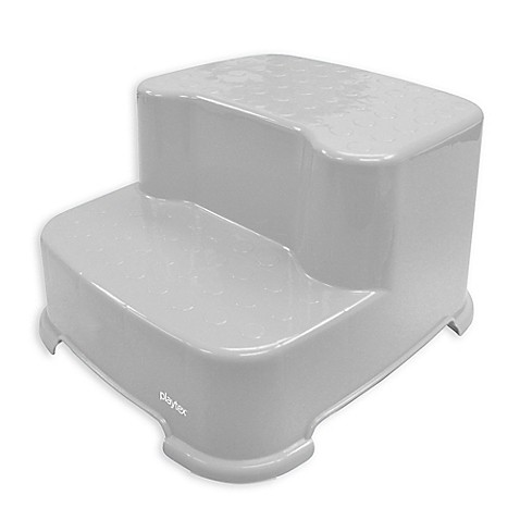 playtex transitions 2 step stool in grey buybuy baby. Black Bedroom Furniture Sets. Home Design Ideas