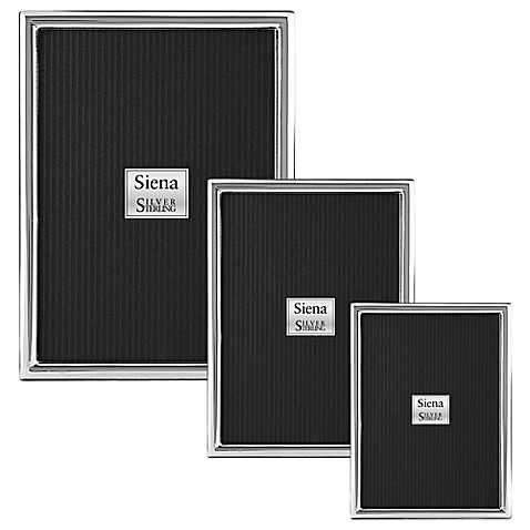 Siena Slim Plain Sterling Silver Picture Frame at Bed Bath & Beyond in Cypress, TX | Tuggl