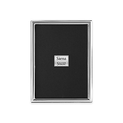 Siena Slim Plain Sterling Silver Picture Frame Bed Bath