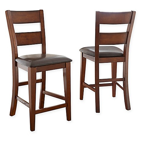 Steve Silver Co Zappa Counter Chair In Mango Wood Set Of