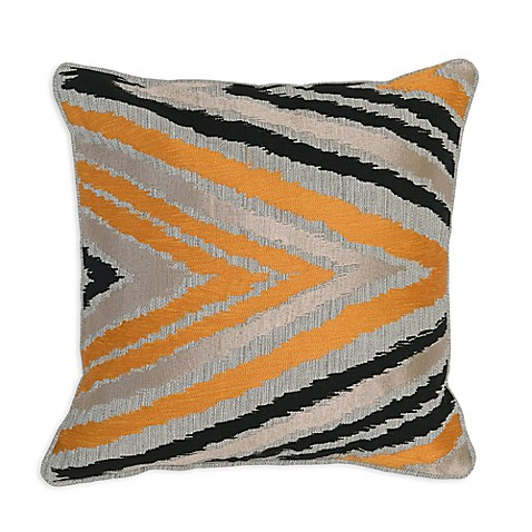 Orange Throw Pillows For Bed : Buy Villa Home Lenny 18-Inch Square Throw Pillow in Orange/Black from Bed Bath & Beyond