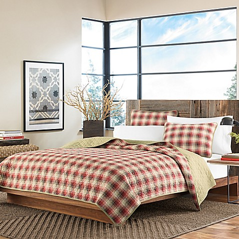 Buy Eddie Bauer Ravenna King Quilt Set In Red From Bed Bath Beyond