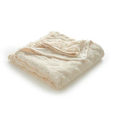 Vellux Chevron Faux Fur Throw Blanket Bed Bath Amp Beyond