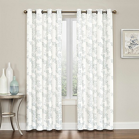 Buy Brielle Embroidery Grommet Top Window Curtain Panel
