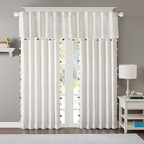 Regency Heights Maya Tassel Room Darkening Window Curtain Panel And Valance In White Bed Bath