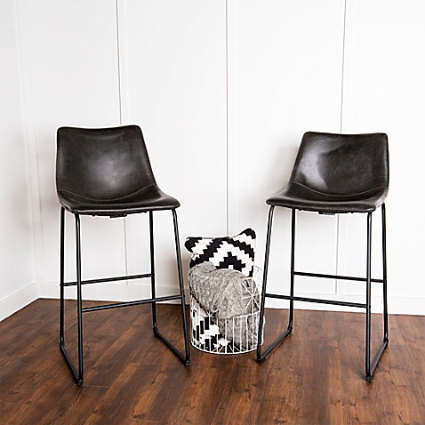 Forest Gate Faux Leather Bar And Counter Stools Set Of 2