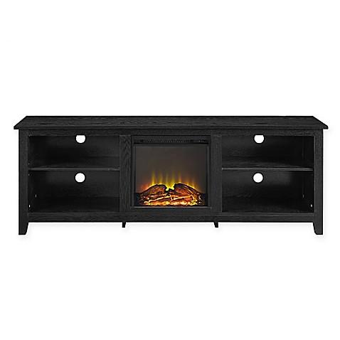Buy Walker Edison 70 Inch Fireplace TV Console in Black