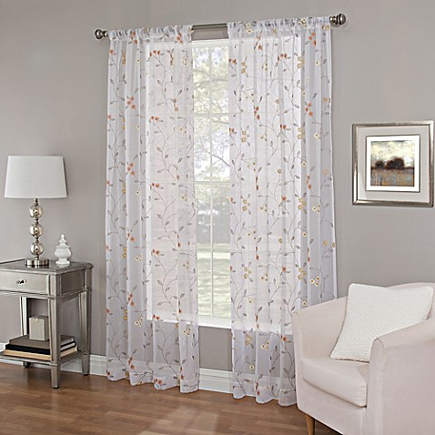 Buy Callisto Home 95 Inch Meadow Embroidery Sheer Window