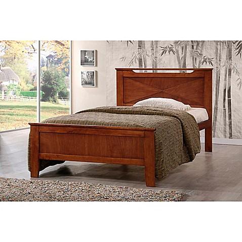 Baxton Studios Demitasse Bed in Brown at Bed Bath & Beyond in Cypress, TX   Tuggl
