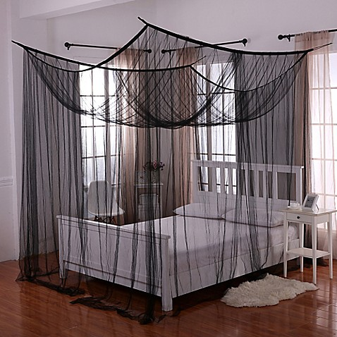 Buy Palace 4 Poster Bed Canopy In Black From Bed Bath Beyond