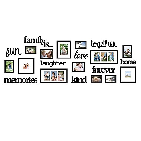 "WallVerbs® 22-Piece ""Family Is"" Photo Frame Set at Bed Bath & Beyond in Cypress, TX 