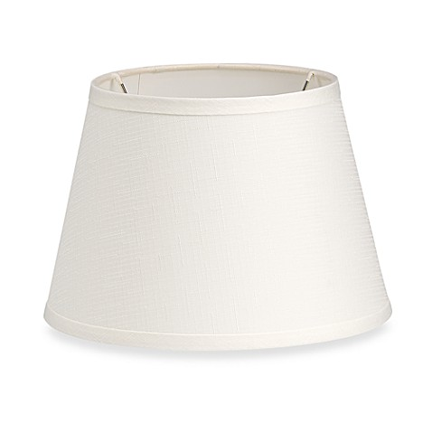 Mix match drum shade in ivory bed bath beyond for Drum shaped lamp shades