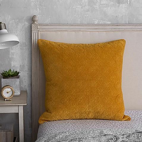 Seville Tiled European Pillow Sham In Yellow Bed Bath
