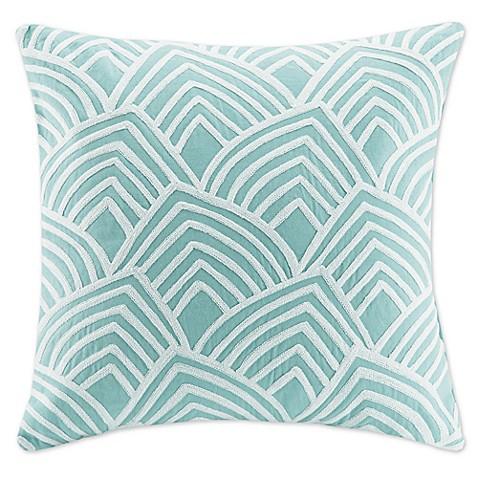 20 Inch Square Decorative Pillows : Madison Park Scallop Embroidered 20-Inch Square Decorative Pillow - Bed Bath & Beyond