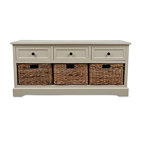 Décor Therapy Montgomery Storage Bench at Bed Bath & Beyond in Cypress, TX | Tuggl