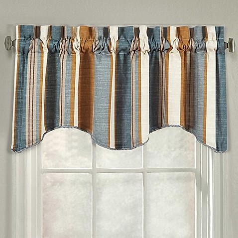 J Queen New York Valdosta Stripe Scallop Window Valance