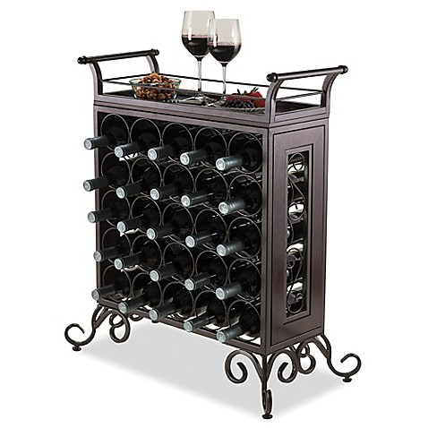Winsome Trading Silvano 25 Bottle Wine Rack In Bronze