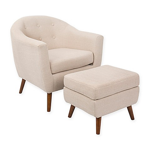 LumiSource Rockwell Chair with Ottoman at Bed Bath & Beyond in Cypress, TX   Tuggl