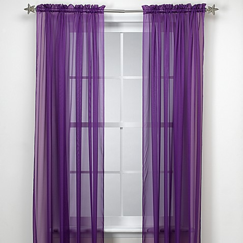 Buy Calypso 63 Inch Window Curtain Panel In Purple From