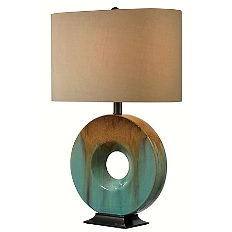 Kenroy Home Sesame Table Lamp in Teal at Bed Bath & Beyond in Cypress, TX | Tuggl