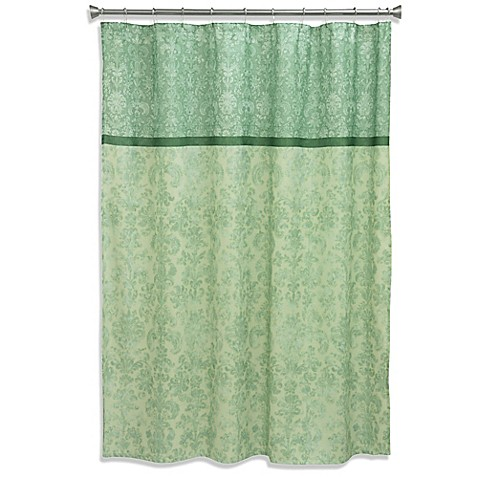 Bacova Georgina Palazzo Shower Curtain In Green Bed Bath Beyond