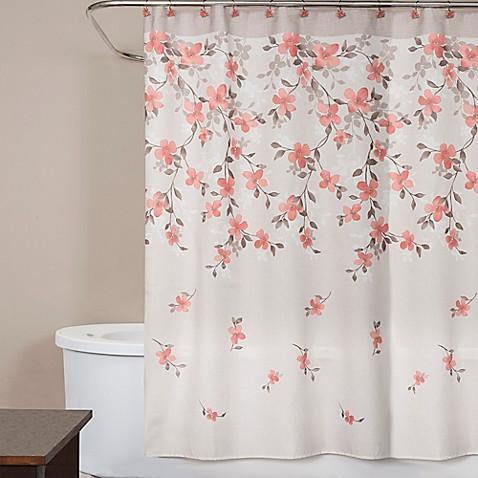 Saturday Knight Coral Garden Shower Curtain Bed Bath