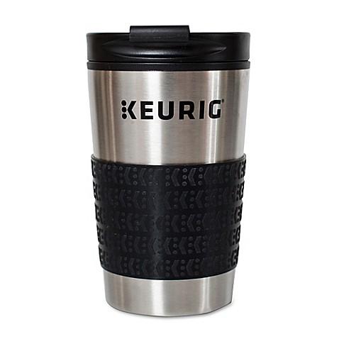 Keurig 174 Thermal Travel Mug In Stainless Steel Black Bed