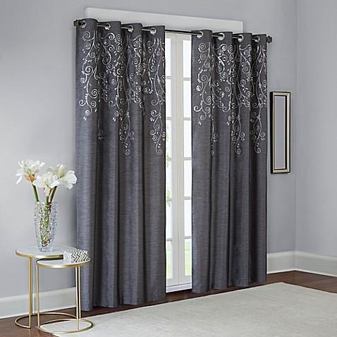 Buy Madison Park Tara Embroidered 95 Inch Window Curtain