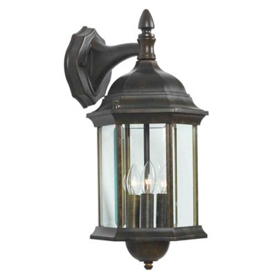 Wall Lamps Bed Bath Beyond : Buy Kenroy Home Custom Fit 3-Light Wall Lantern in Bronze from Bed Bath & Beyond