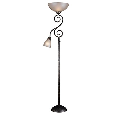 Kenroy home treble mother son torchiere floor lamp bed for Torchiere floor lamp bed bath and beyond
