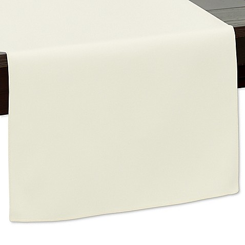 Buy 120 inch indoor outdoor twill table runner in ivory for 120 inches table runner