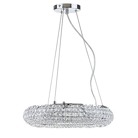 Buy safavieh angelica 5 light pendant in chrome clear from bed bath beyond - Angelica kitchen delivery ...