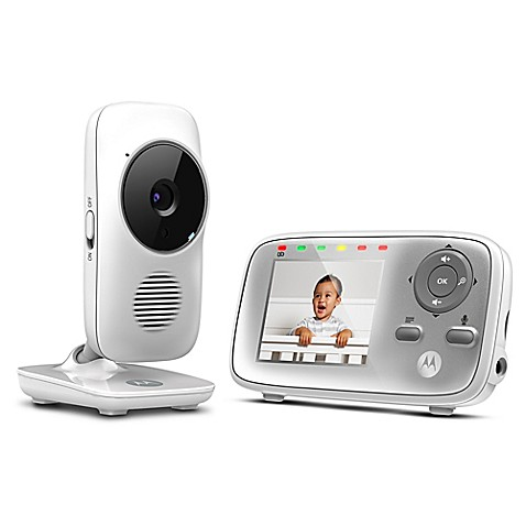 motorola mbp483 2 8 video baby monitor in white buybuy baby. Black Bedroom Furniture Sets. Home Design Ideas